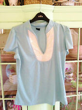 Women's SOAKED IN LUXURY green/blue T-shirt top with sequins detail, size L