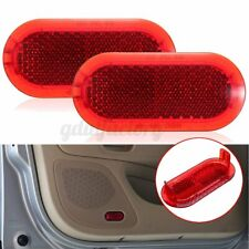 2pcs Door Panel Red Warning Light Reflector For VW Beetle Caddy Polo