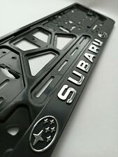 """SUBARU"" EURO LICENSE PLATE TAG HOLDER MOUNT ADAPTER BUMPER FRAME BRACKET"