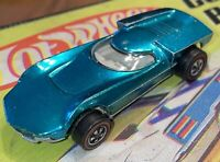 Vintage All Original Hot Wheels Redline 1968 Aqua Blue Turbofire Car US Base