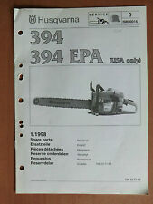 Ersatzteilliste HUSQVARNA Motorsäge Kettensäge 394 + EPA USA list chain saw 1998