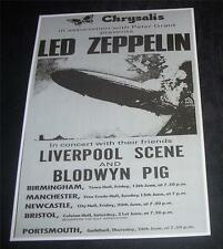 Led Zeppelin 1969 UK Tour repro poster