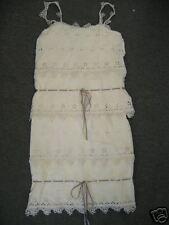 New NWT Anna Sui $642 lace & ribbon silk dress sz 2