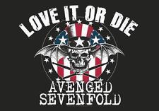 "AVENGED SEVENFOLD AUFKLEBER / STICKER # 2 ""LOVE IT OR DIE"""