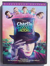 Charlie & the Chocolate Factory PG comedy movie, new DVD Johnny Depp, Tim Burton