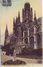 CPA 76 ROUEN 1911 Saint Ouen et Statue Rollon