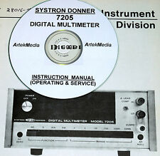 Systron Donner 7205 Operating & Service Manual