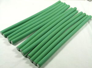 12 SMALL 24 CM EXTRA LONG BENDY HAIRDRESSING HAIR ROLLERS FOAM HAIR CURLERS NEW