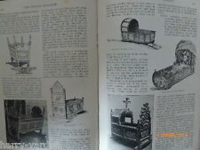 Cradles Cribs Baby Beds Rare Victorian Article Antique Royalty 1894