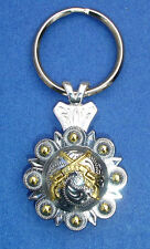 Western Cowboy Jewelry Bright Crossed 1851 Colt Revolvers Concho Key Ring Kit