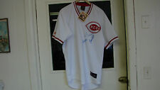 Cincinnati Reds Autograph Jersey Mult signed by Joe Morgan, Griffey Sr, Foster