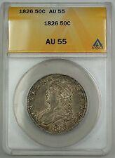 1825 Capped Bust Silver Half Dollar Coin 50c ANACS AU-55 GBr
