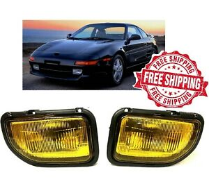 For 1991 1995 Toyota MR2 Front Fog Lights With Bulbs Wiring Harness Switch Kit