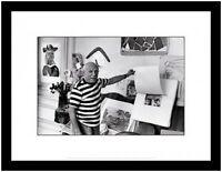 Rene Burri Pablo Picasso Villa In Cannes Poster Kunstdruck im Alu Rahmen 30x40cm
