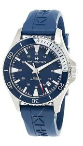 HAMILTON Scuba AUTO 40MM Blue Dial Rubber Strap Men's Watch H82345341