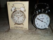 Crosley 33013 Classic Twin Bell Vintage Metal Alarm Clock