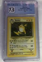 Pokemon Base Set Unlimited Raichu 14/102 Holo CGC 7.5 NM Not PSA BGS