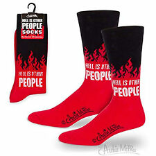 Hell Is Other People 1 Pair Of Dress Socks NEW Toys Fun Joke Gag Gift