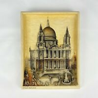 Osborne Ivory Plaque St Paul's Cathedral Vintage 3D 27x20.5 cm