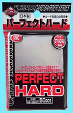50 KMC PERFECT HARD CLEAR STANDARD Size Card Barrier Sleeves NEW 64X89 Double