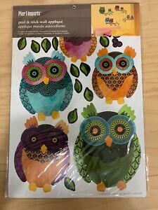 Pier 1 Imports Peel & Stick Wall Applique Owls