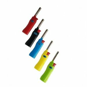 5X MK LIGHTER Full Size Refillable Candle Windproof Jet Lighters Assorted Colors