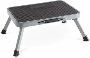 Metal Folding Step Stool, Seat, One Step Ladder Anti Slip Feet Easy to Store New