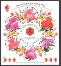 Korea Block mit Blumen