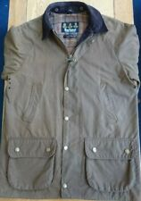 BARBOUR A156 Brown Beaufort wax jacket with detachable hood. Size Medium.