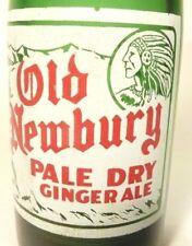 vintage SODA pop  BOTTLE green OLD NEWBURY of NEWSBURYPORT, MASS - 7 oz INDIAN
