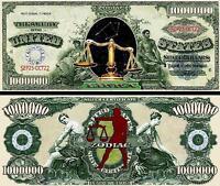 BALANCE  BILLET MILLION DOLLAR US ! SIGNE ASTROLOGIQUE ASTROLOGIE ZODIAQUE ASTRO