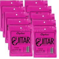 10 SETS Orphee-TX640 REGULAR SLINKY(.012-.053)Acoustic Folk GUITAR STRINGS P1F8