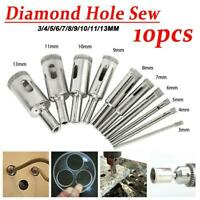 10Pcs Diamond Tool Drill Bit Hole Saw Set Glass Hole Drill Bit Ceramic Tile