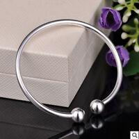 1PC 8'' Fashion Cuff Bangle European Beaded Charm Chain Bracelet Jewellery Gift