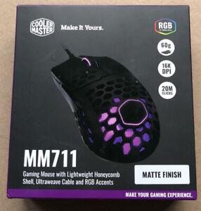 NEW SEALED Purple Cooler Master Gaming Mouse Matte Finish MM711 60g 16K DPI