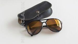 Nikon Aviator Sunglass NK4765-1 57-15 Col Black Gold Mirror Glass lenses & Case