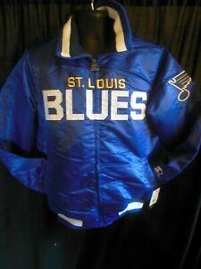 St Louis Blues NHL Men's Quilt Lined Front Zipper Starter Jacket
