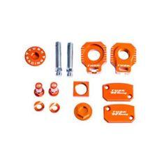 FITS: KTM 505 XC-F 2008–2009 TUSK BILLET BLING KIT Brake Oil Cap Axle Blocks