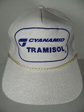 Vtg 1980s CYANAMID TRAMISOL FARM AG AGRICULTURAL CATTLE ADVERTISING SNAPBACK HAT