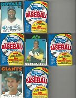 1986 Topps Bo Jackson#50T Canseco #20T, Clark #24T + 4 Unopened Wax Packs!