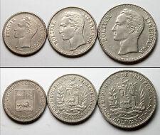 A183 Venezuela 1965 1967, 3 monedas  - lot of 3 coins