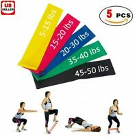Resistance Bands Loop Set of 6 Exercise Workout CrossFit Fitness Yoga Booty Band