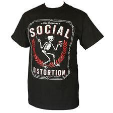 SOCIAL DISTORTION PUNK ROCK BAND  MEN'S T-SHIRT BLACK