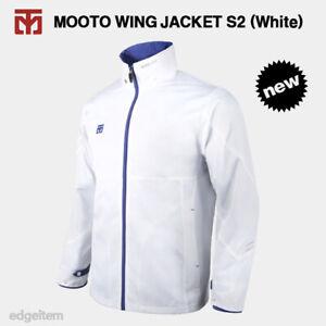MOOTO Wing Jacket S2 (White) Windbreaker with Optional Patch TKD KUKKIWON WT