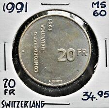 1991 Switzerland 20 Francs