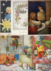 Lotto 40 cartoline Natale Pasqua bambini paesaggi Gesù ...