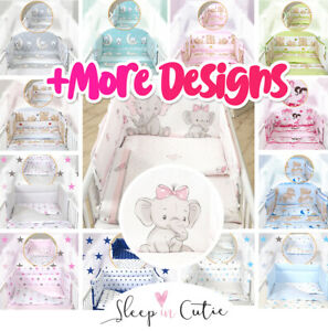 BABY ELEPHANT BABY BEDDING SET - fit Cot 120x60cm or Cot Bed 140x70 +50 DESIGNS