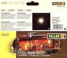 "Faller 180653 - 5 LED einzeln, "" Warmweiß "" NEU & OvP"