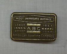 American Bowling Congress ABC Award Belt Buckle 1967-68, Most Improved Average