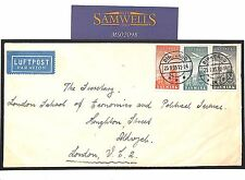 MS2098* 1935 DENMARK AIR ISSUES *Birkerød* Cover GB London Commercial Airmail
